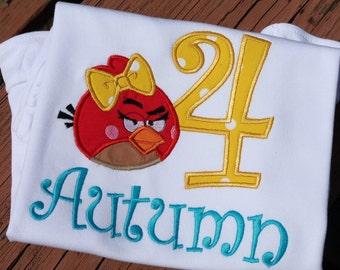 Angry Birds Birthday Shirt