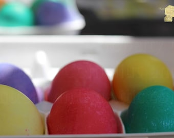 """Coloring Easter Eggs Colorful Spring Colors """"Citrus And Ultra Violet Easter Eggs"""" Art Print Photograph Wall Hanging Home Deco Wall Art"""