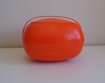 Retro Orange Picnic Caddy (6 place settings)
