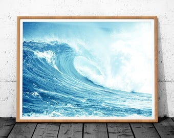 Ocean Waves Print, Wave Art, Ocean Print, Ocean Wall Art, Ocean Art, Ocean Wave, Waves Print, Ocean Photo, Ocean Waves Printable, Sea Print