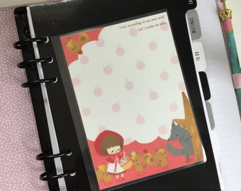 Double Sided Laminated Note To Do Shopping List Dashboard : Kawaii Pony Brown Planner accessories Re-Usable Page Marker Bookmark Insert