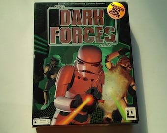 Star Wars Dark Forces amélioré Mac Version Apple Macintosh Retail grosse boîte CD-ROM 1994 jeu Lucasarts vidéo