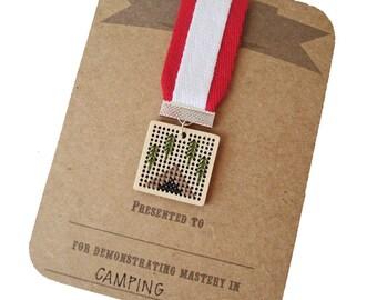 Camping achievement badge