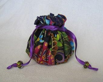 Jewelry Bag -Medium Size - Jewelry Pouch - Drawstring Jewelry Tote - KALEIDOSCOPE