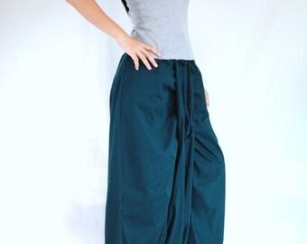 Teal Dark Green Harem Pants Wide Leg Pants - Baggy Aladdin Genie Fisherman Pants Yoga Women Loose Pants - Sarouel Pants 22046