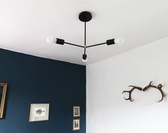 FLAT-TOP / Black Model / Industrial / modern / Sputnik / Pendant light / Handmade in London, England