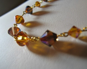On sale Bridal Topaz Swarovski Crystal Necklace Penelope Style 16