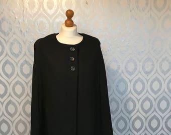 Classic black vintage cape