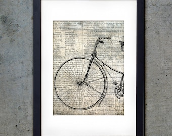Bicycle Front - Industrial PRINTABLE - Art Print 5 X 7 - Vintage Downloadable Digital