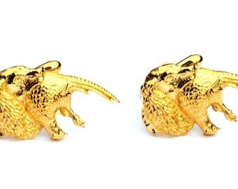 Spaniel Gold Plated Cufflinks UK Handmade Gundog Gift