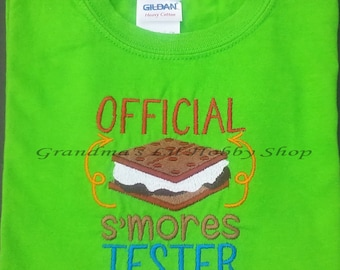 Official S'mores Tester Child's T-shirt Boy or Girl