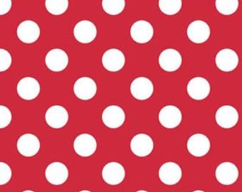 Fabric by the Yard - Fat Quarter Bundle - Polka Dot Fabric - Fat Quarter - Riley Blake Designs - Dot Fabric - Red Fabric - Quilting Fabric