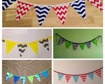 Fabric Birthday Banner - Photo Prop - Bunting