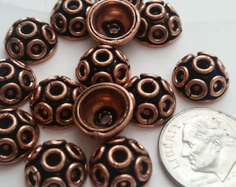 Copper bead caps