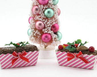 """Fruitcake and Figgy Pudding Christmas Ornament Set of 2 """"Nutty As A Fruitcake & Get Figgy With It Collection"""" Limited Ed. Fab Holiday Gift"""