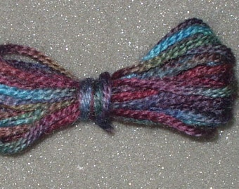 Tapestry Wool ,3 Ply Hand Dyed in Burgundy Green Blue Multi colored Crewel Yarn