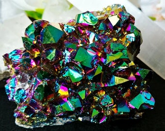 Rainbow (Titanium) Aura Amethyst