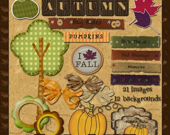 Best of Fall - Digital Images for Scrapbook and Paper Crafts