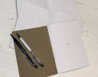 B6 To Do/Check List Notebook TN insert