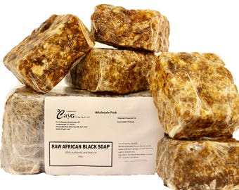 African Black Soap 5LB Wholesale Pack Authentic Raw Organic Handcrafted in Ghana FAIRLY TRADED