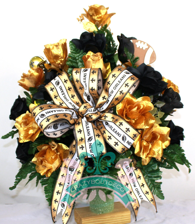 New orleans saints fan vase cemetery flower arrangement zoom reviewsmspy