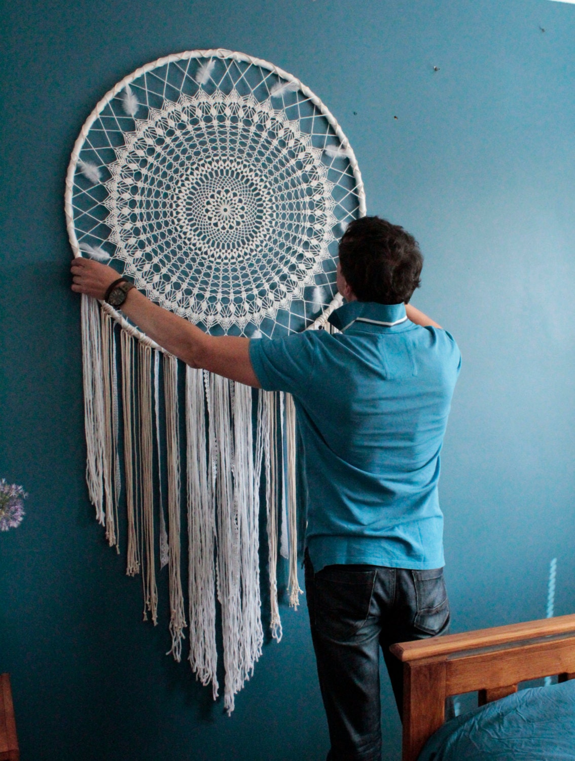 Large Dream Catcher For Sale Large dreamcatcher wall hanging boho wall wedding backdrop 4