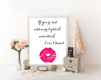 Prints For Bathroom Makeup Decor Makeup Wall Art Makeup Canvas