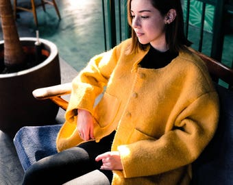 Wool Yellow Coat
