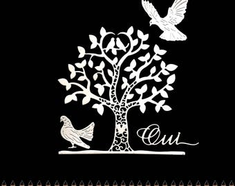 Tree heart doves scrapbooking cuts animal word Yes cutting paper decoration die cut embellishment wedding wedding