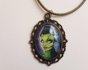 Zombie Girl Pendant Necklace
