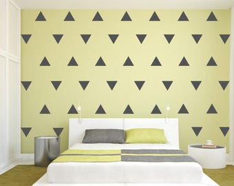 Triangle Wall Decal, Triangle Decal, Pattern Decal, Nursery Wall Decal, Triangle Stickers, Gold Triangle Wall Decal, Wall Art, Pattern Decal