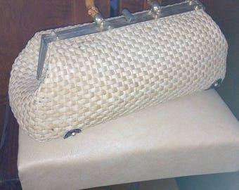 Vintage 1950's raffia bag s!
