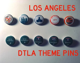 10 Los Angeles Edition Pinback Buttons (1.25 in.)
