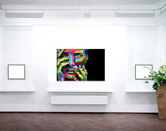 Pessimist   Digital Art on Canvas