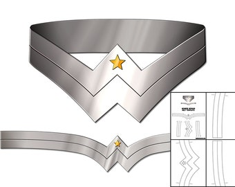 Template for Wonder Woman Utility Belt