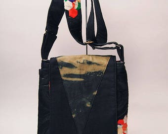 Japanese Kimono Patchwork Shoulder Bag