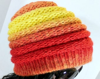 Loom Knitting Patterns Ombre Hat Beanie Pattern for Extra Large Round Looms Men Women