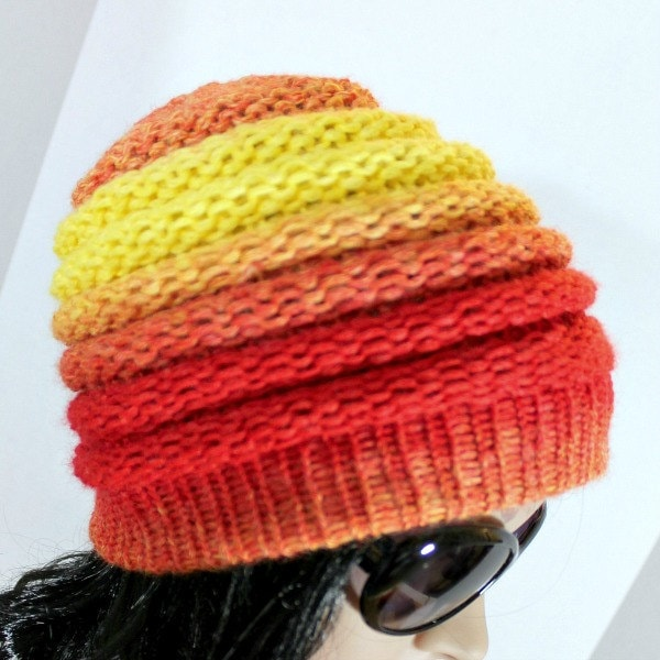 Loom Knitting Patterns Ombre Hat Beanie Pattern For Extra