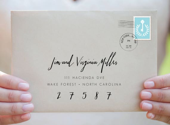 Wedding EnvelopesPrintable Address TemplateModern Calligraphy