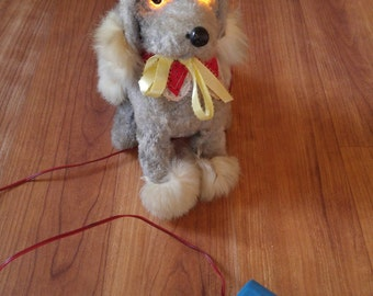 50s battery operated toy dog, made in Japan