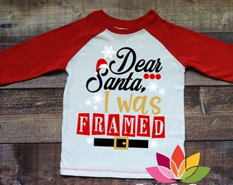 Christmas SVG, Dear Santa, I was Framed, Naughty or Nice, Santa Belt, Hat, boy shirt cut file for silhouette caeo and cricut