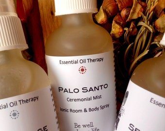 PALO SANTO spray, smudge, 2 ounce, essential oil, for meditation, ritual, ceremony, clearing, purification, shamanic work, Reiki