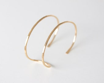 Gold Double Cuff - Rose Gold Double Cuff - Modern Cuff Bracelet - Minimalist Bracelet - Gold Stacking Cuff -  Open Double Cuff