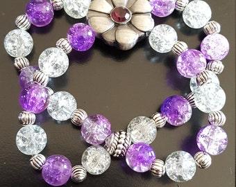 Purple Clematis Vine Bracelet