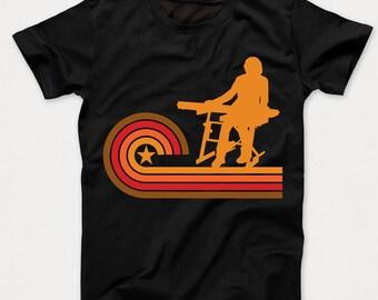 Retro Style Keyboardist Vintage Keyboard Kids T-Shirt