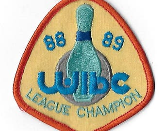 Vintage 1980's Fabric Bowling Champion Patch