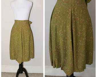 Vintage 1970s patterned skirt