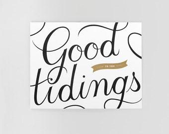 Good Tidings Letterpress Holiday Card