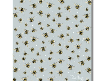 Bumble Bee Tea Towel - Bee Kitchen Towel, 100% Cotton, Bee Gift, Housewarming Gift, Birthday Gift, Country Kitchen