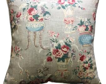 "GP J Baker Blush China Linen Cushion Pillow Cover 24"""